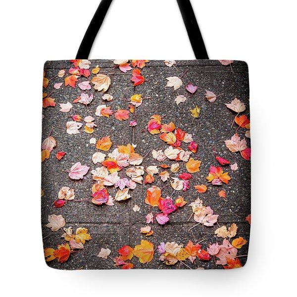 Leafy Autumn Walk Tote Bag