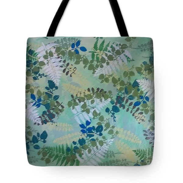 Leafy Floor Cloth - Sold Tote Bag