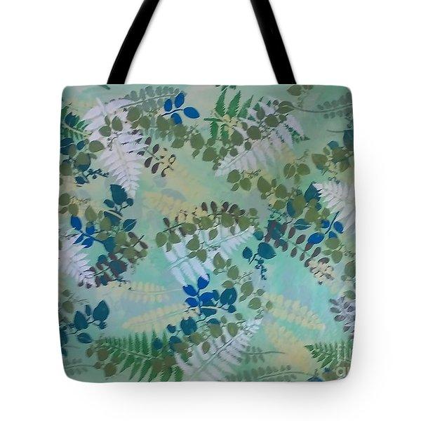 Leafy Floor Cloth - Sold Tote Bag by Judith Espinoza