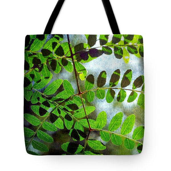 Leafy Textures Tote Bag
