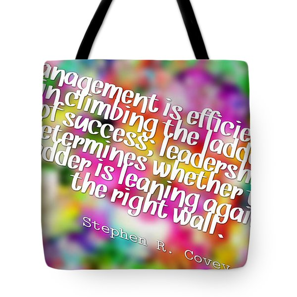 Lean Against The Right Wall Tote Bag