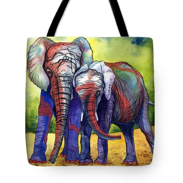 Tote Bag featuring the painting Lean On Me by Barbara Jewell