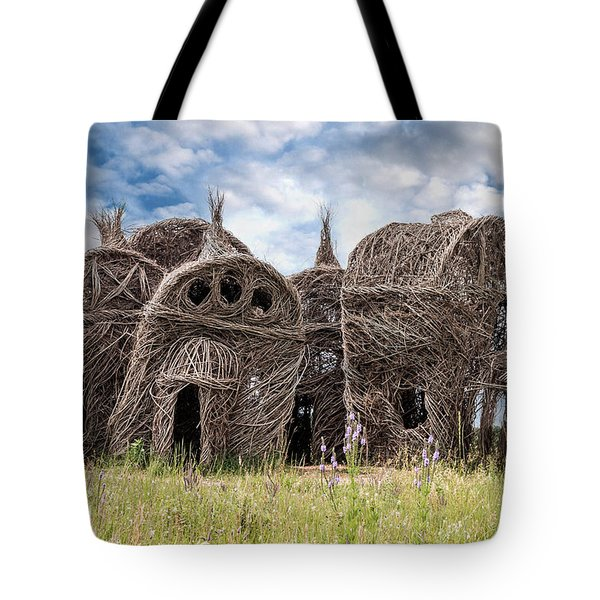 Lean On Me - Stick House Series 1/3 Tote Bag