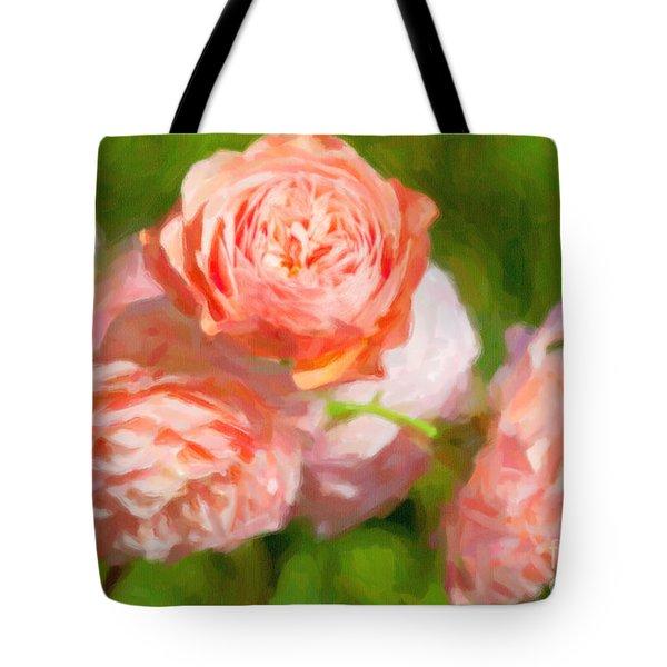Leander English Rose Tote Bag by Verena Matthew