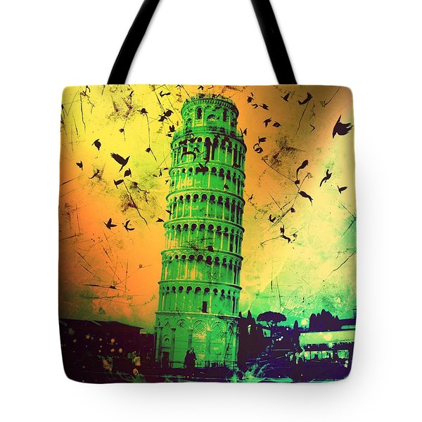 Leaning Tower Of Pisa 32 Tote Bag
