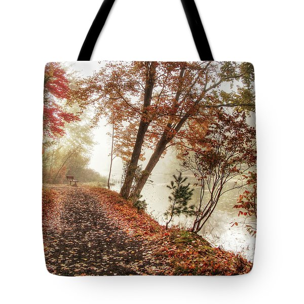 Leaning Tree Tote Bag