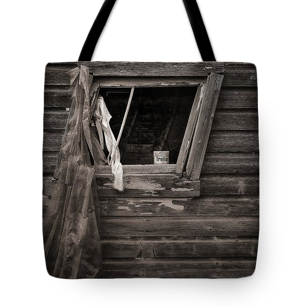 Leaning Window Tote Bag