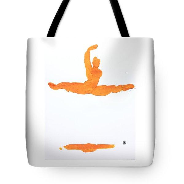 Leap Brush Orange 1 Tote Bag