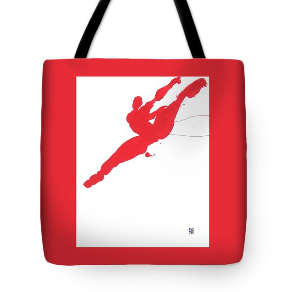 Leap Brush Red 3 Tote Bag