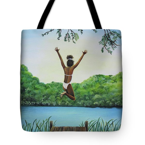 Leap Of Faith Tote Bag by Kris Crollard