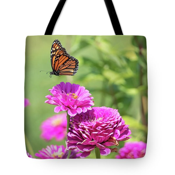 Tote Bag featuring the photograph Leaping Butterfly by Brian Hale