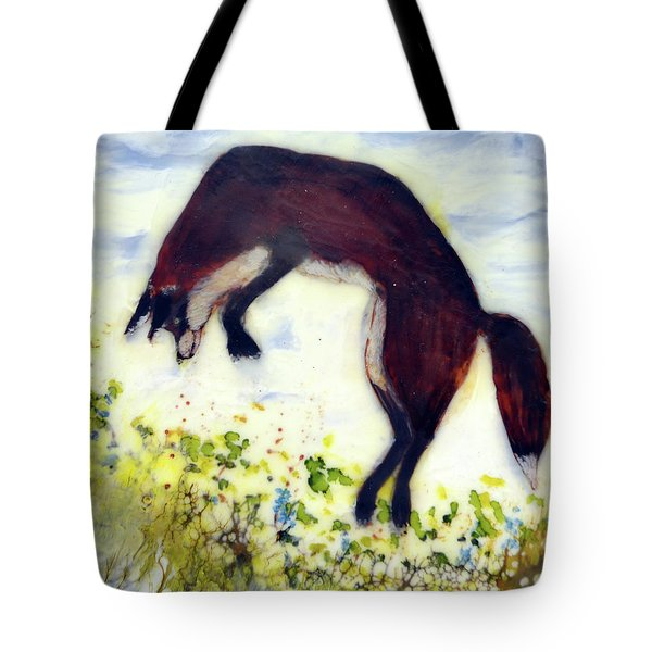 Leaping Fox 1 Tote Bag