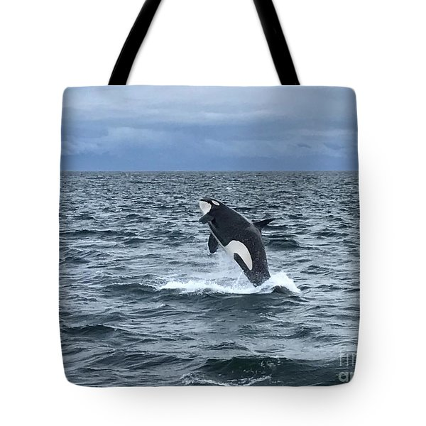 Leaping Orca Tote Bag