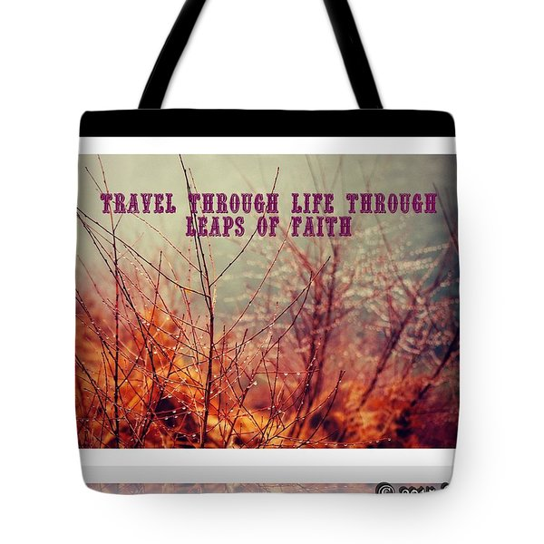 Tote Bag featuring the digital art Leaps Of Faith by Holley Jacobs