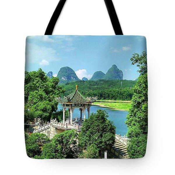 A View In Yangshuo Tote Bag