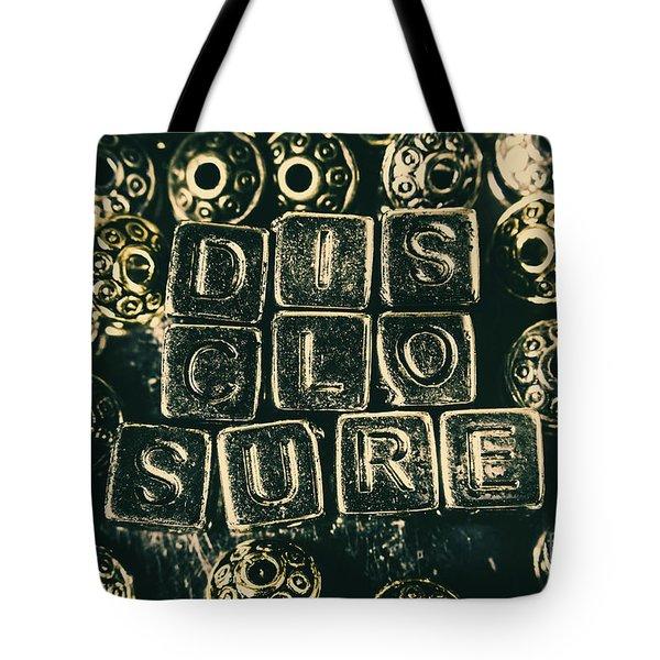 Learning Blocks Of Disclosure Tote Bag