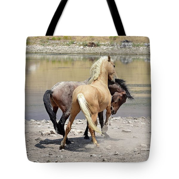Tote Bag featuring the photograph Learning To Fight by Lula Adams