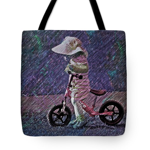 Learning To Ride Tote Bag