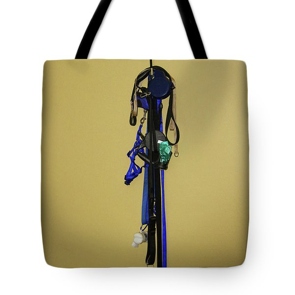 Leash Lady Just Hanging On The Wall Tote Bag