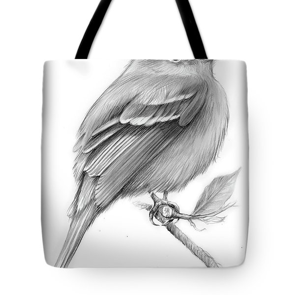 Least Flycatcher Tote Bag by Greg Joens