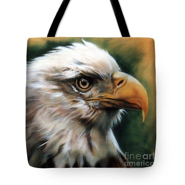 Leather Eagle Tote Bag