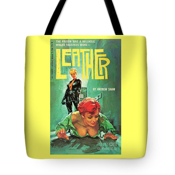 Tote Bag featuring the painting Leather by Robert Bonfils