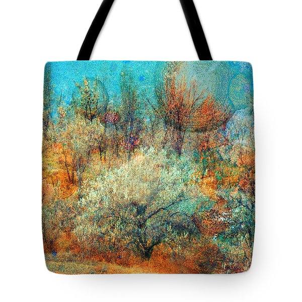 Leave It To The Trees To Dance In The Cold Tote Bag by Tara Turner