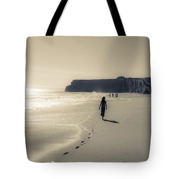 Leave Nothing But Footprints Tote Bag by Alex Lapidus