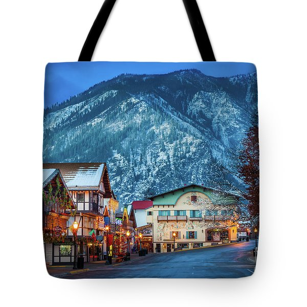 Leavenworth Alpine View Tote Bag by Inge Johnsson