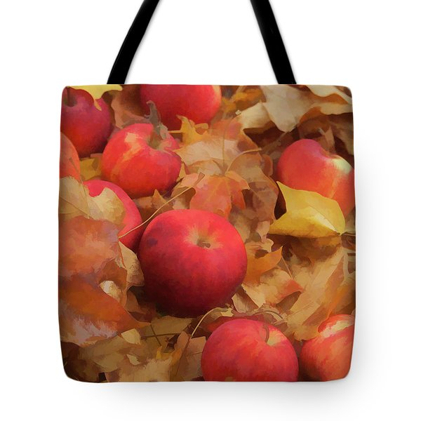 Leaves And Apples Tote Bag