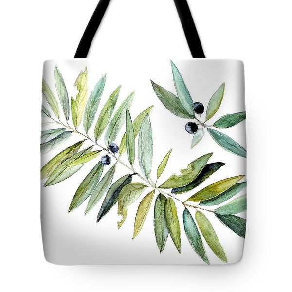 Leaves And Berries Tote Bag