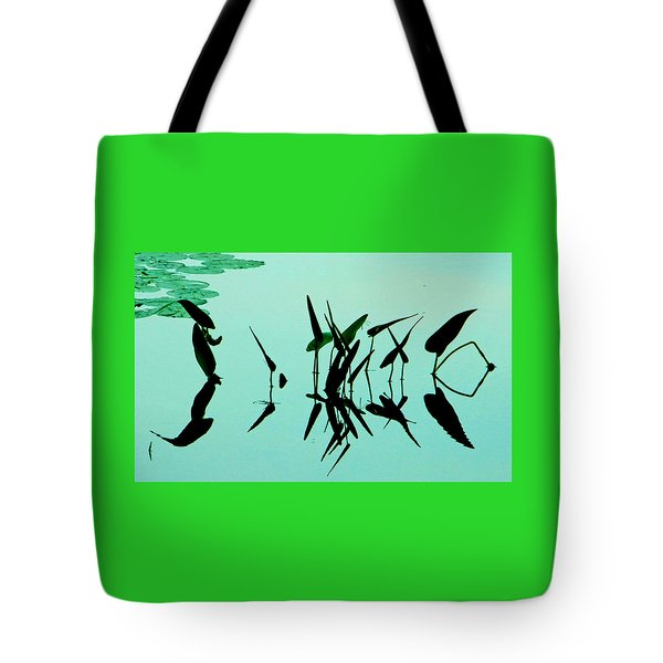 Leaves And Dragonflies 2 Tote Bag