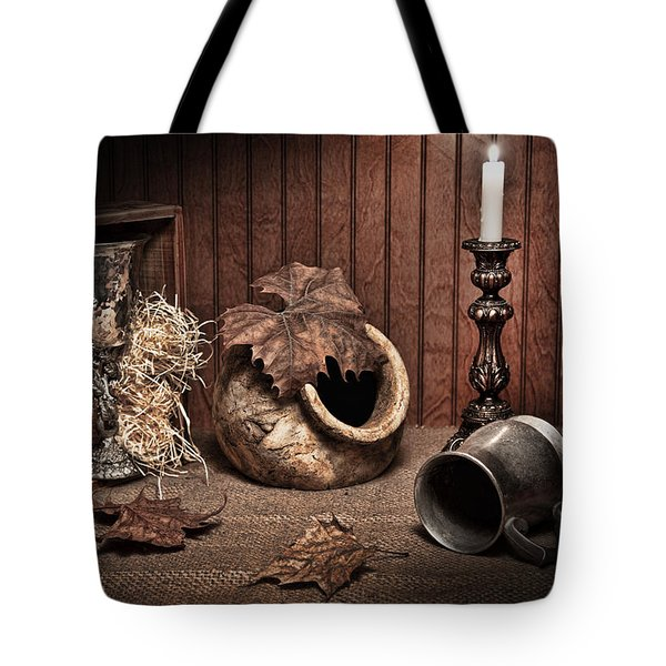 Leaves And Vessels By Candlelight Tote Bag
