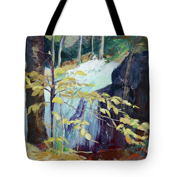 Leaves And Water Tote Bag