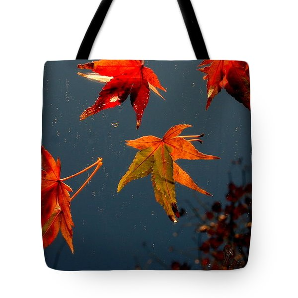 Leaves Falling Down Tote Bag
