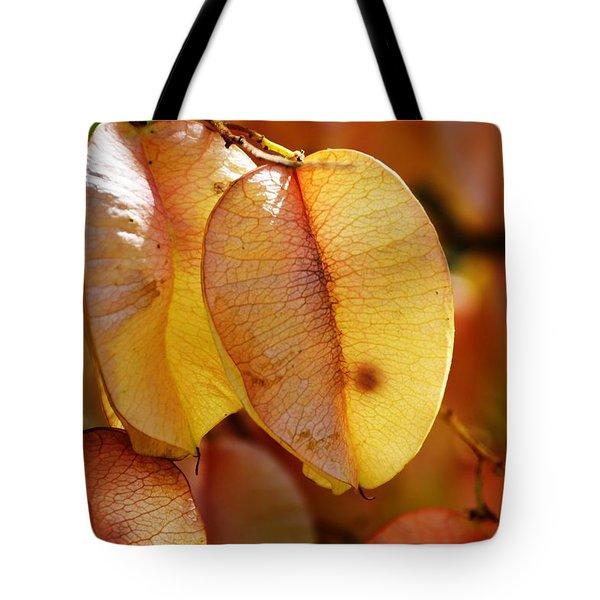 Leaves Hang For Fall-gerorgia Tote Bag
