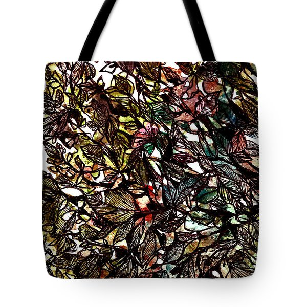 Leaves Hidden Everywhere Tote Bag by Garima Srivastava