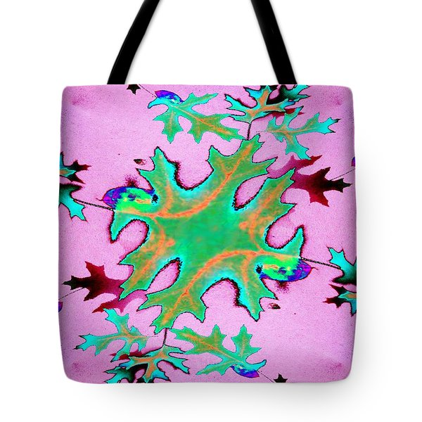 Leaves In Fractal Tote Bag by Tim Allen
