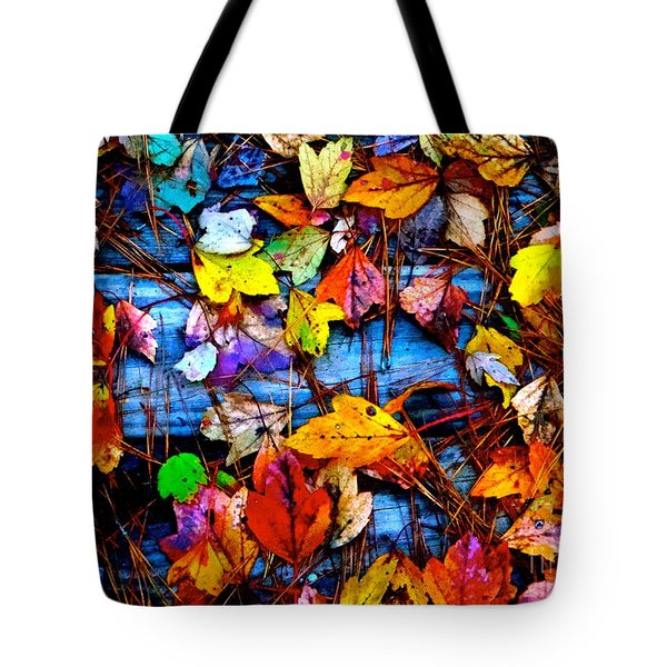 Leaves Of Colors  Tote Bag by Cathy Dee Janes