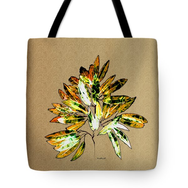 Tote Bag featuring the digital art Leaves Of Many Shades by Asok Mukhopadhyay