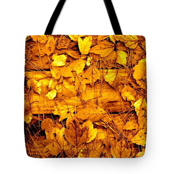 Leaves Of Sepia Tote Bag by Cathy Dee Janes