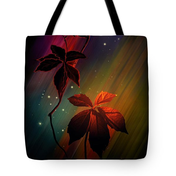 Tote Bag featuring the photograph Leaves Of Three by Judy  Johnson