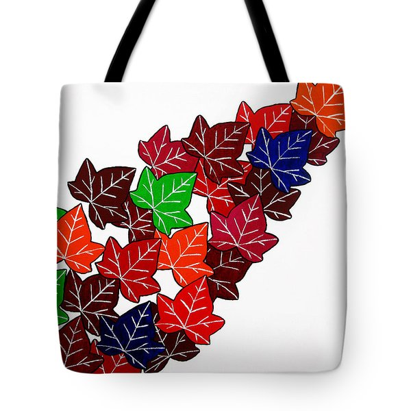 Leaves Tote Bag by Oliver Johnston