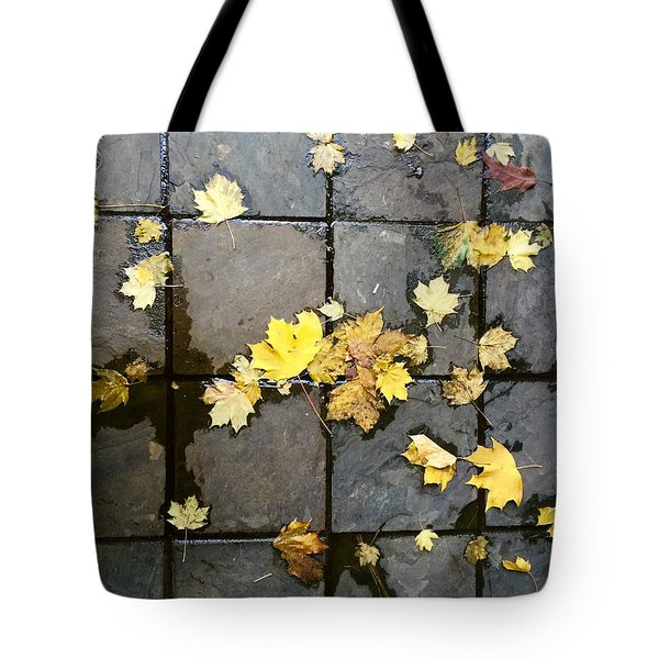 Leaves On Slate Tote Bag