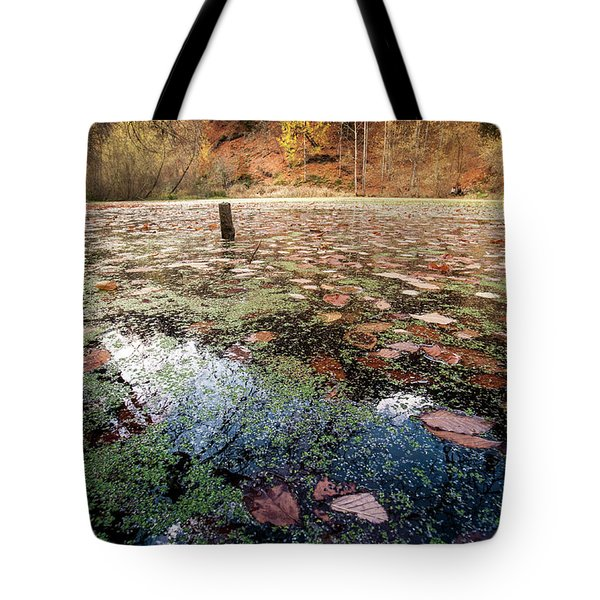 Leaves On The Lake Tote Bag