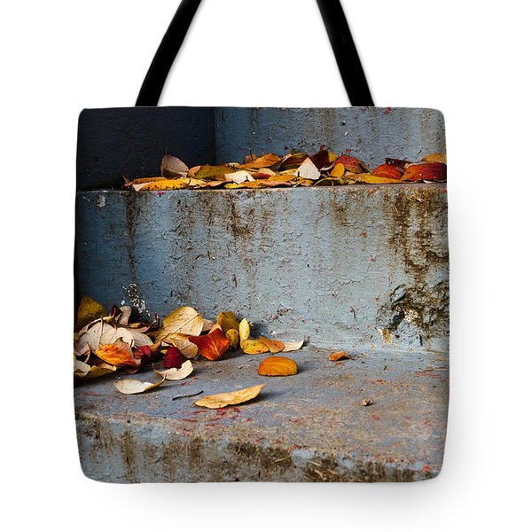 Leaves On The Stairs Tote Bag