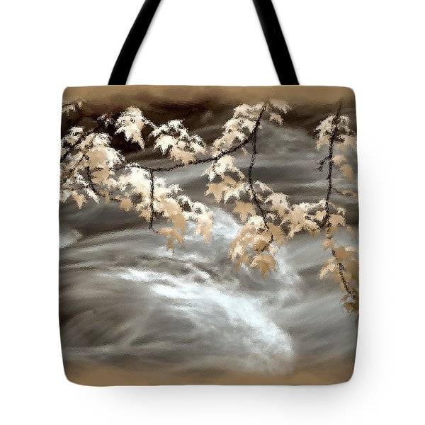Leaves Over Gossamer Waters Tote Bag