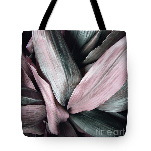 Leaves In Pink And Blue Shades Tote Bag