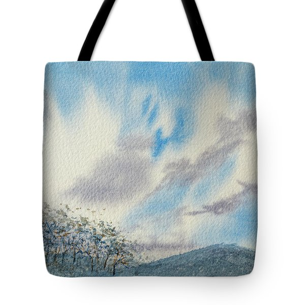 The Blue Hills Of Summer Tote Bag