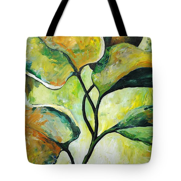 Leaves2 Tote Bag by Chris Steinken